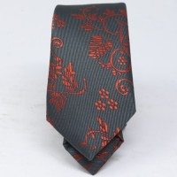 Grey/Red Men's Tie