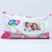 AII Day Sensitive Baby Wet Towels - 90 pcs